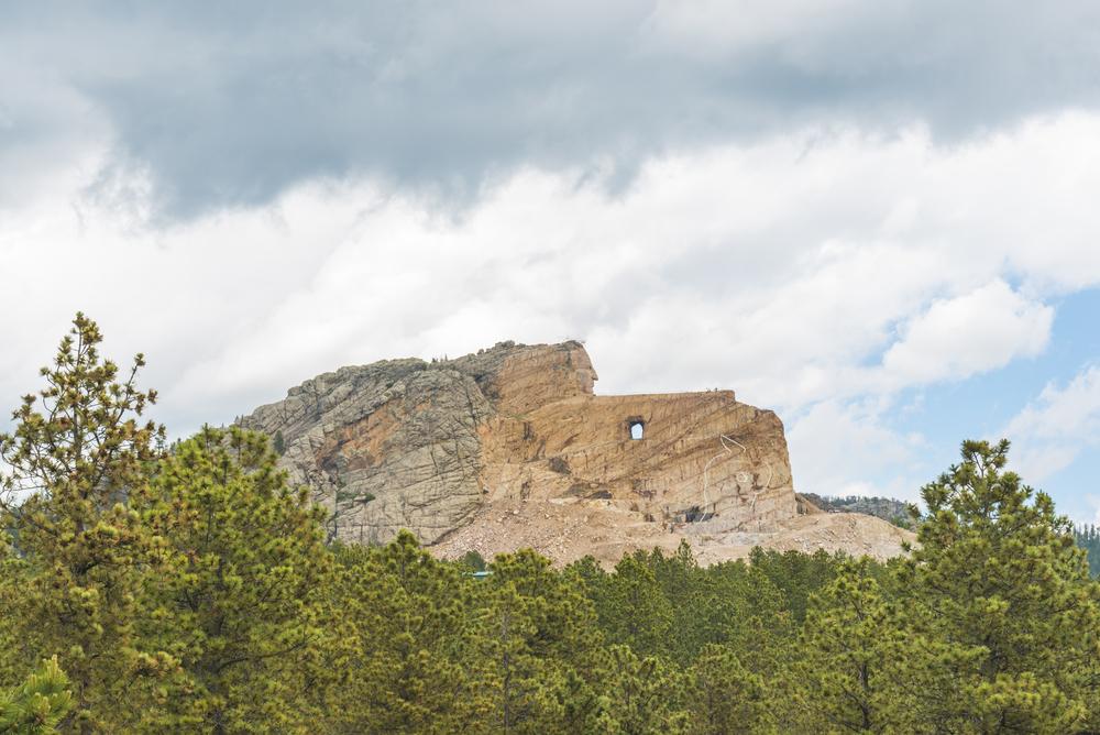 Il Crazy Horse Memorial com'è oggi.