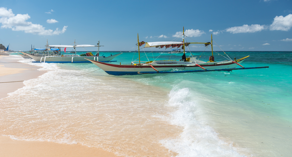La Puka Beach di Boracay, Filippine