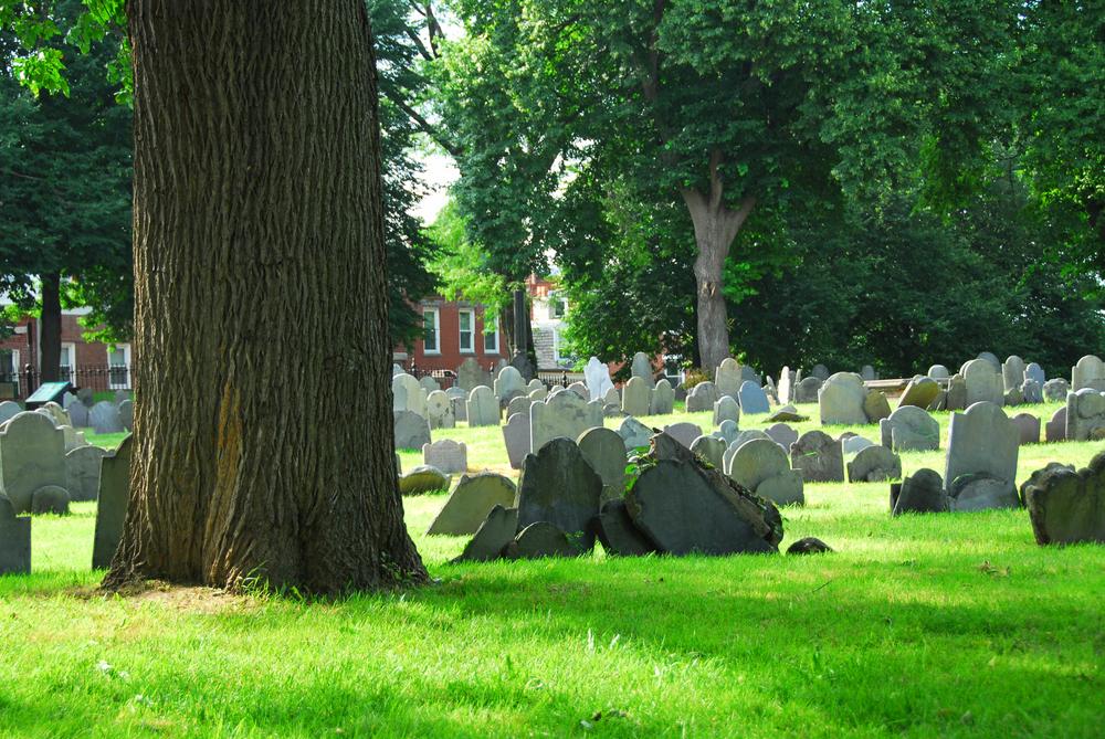 New England Literary Tour Boston cimitero