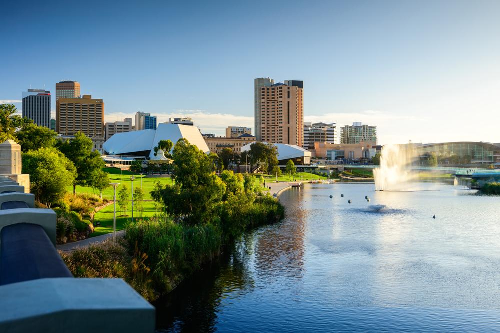 Una veduta del centro di Adelaide, South Australia