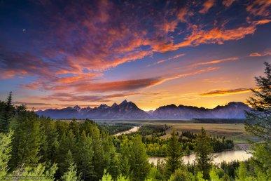 La valle di Jackson Hole è vicina al Gran Teton e allo Yellowstone National Park