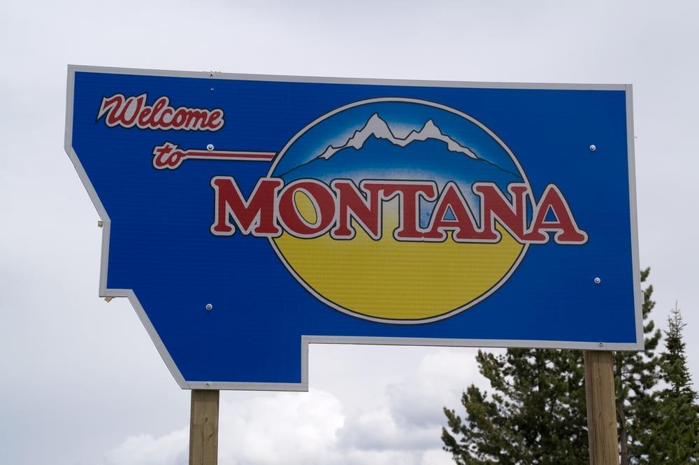 viaggi in Montana Sign Rockies