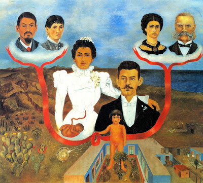 Frida Kahlo i Miei nonni i miei genitori e io