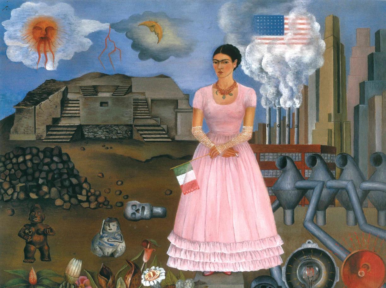 Autoritratto al confine tra Messico e USA Frida Kahlo