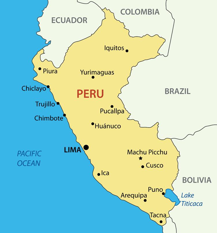 viaggio in Perù Mappa