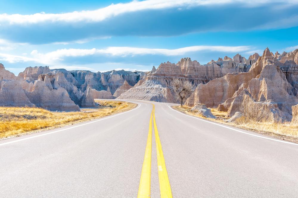 Viaggio nella real america badlands national park