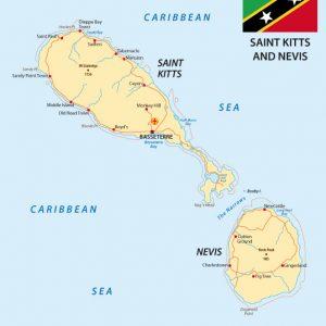 Saint Kitts e Nevis Mappa