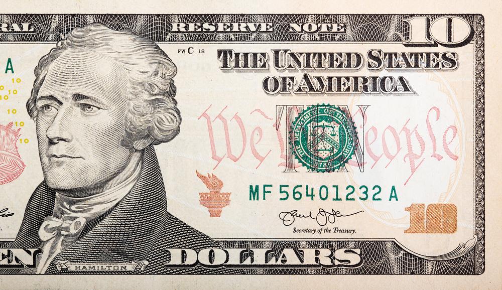 Saint Kitts e Nevis 10 dollari Hamilton
