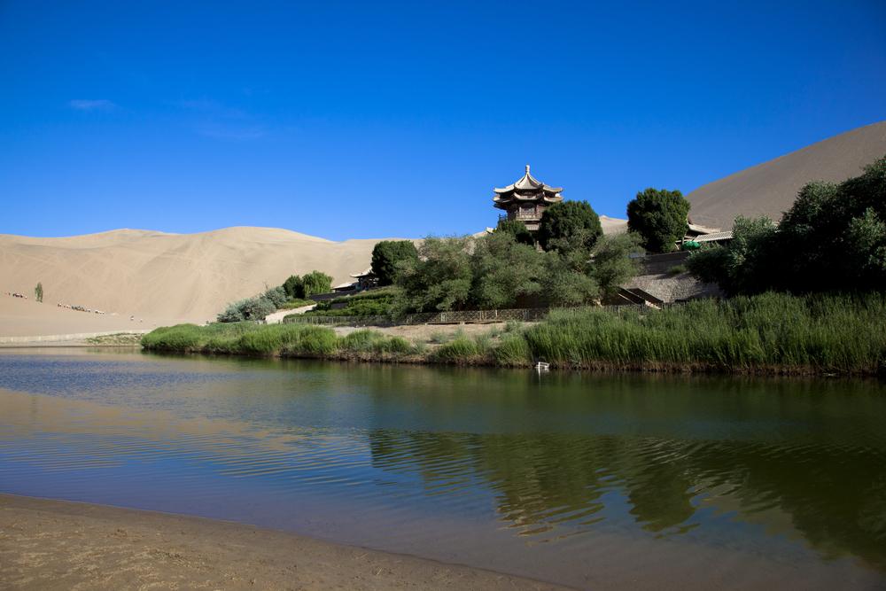 Viaggio in Gansu Lago falce luna