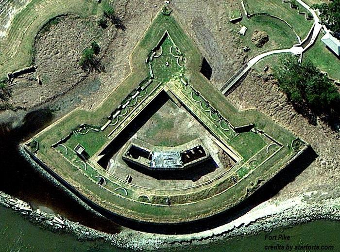 Fortezze americane sul Golfo del Messico Fort Pike