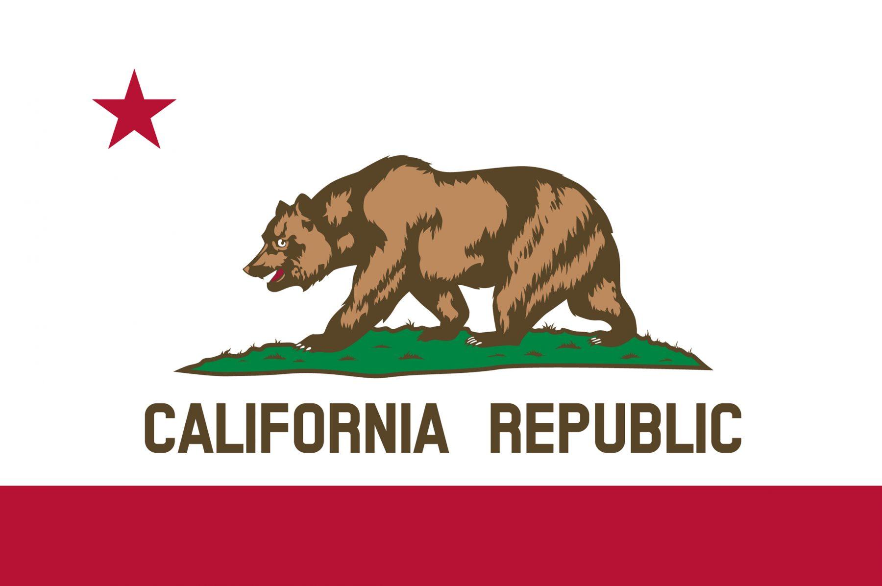 Viaggio in California Bandiera
