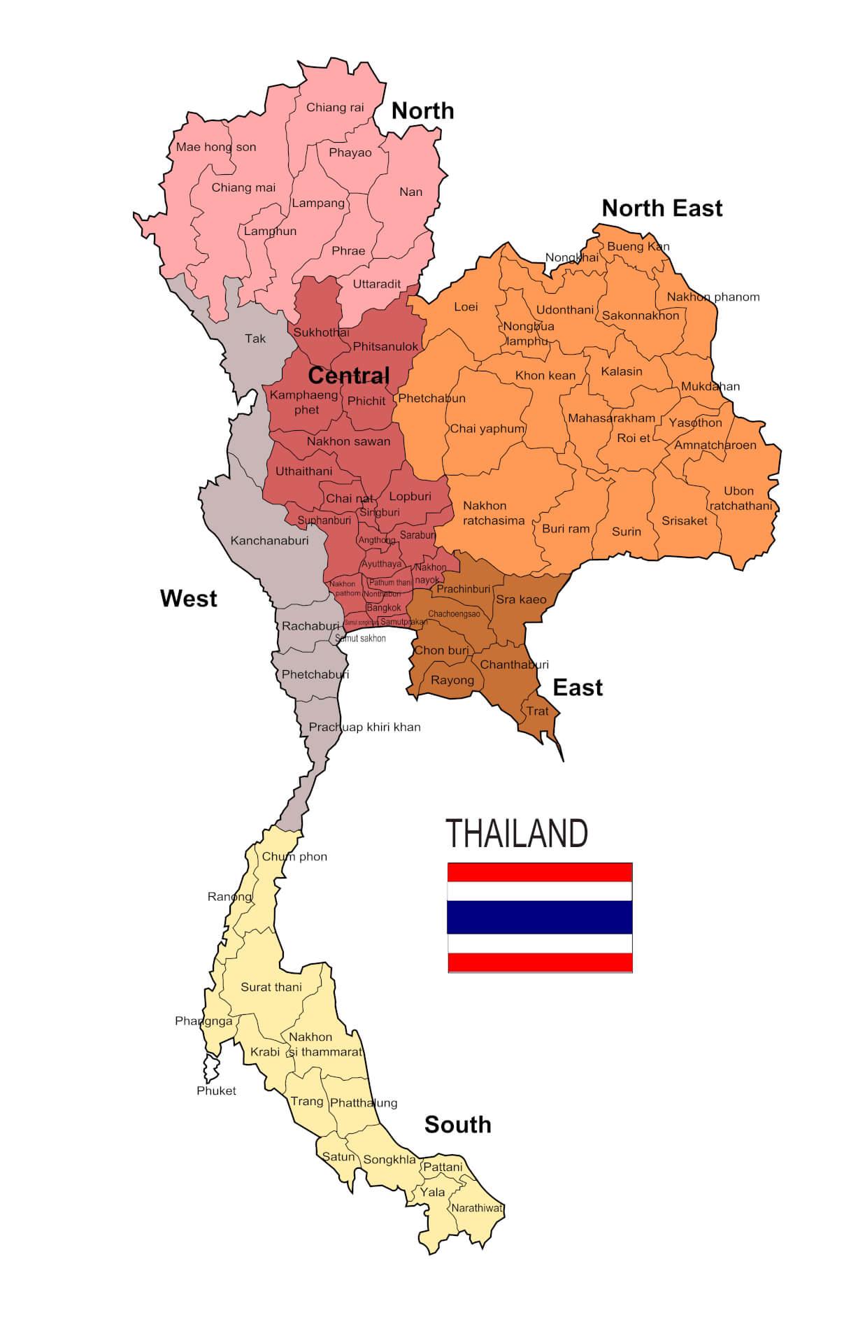 Viaggio in Thailandia Mappa