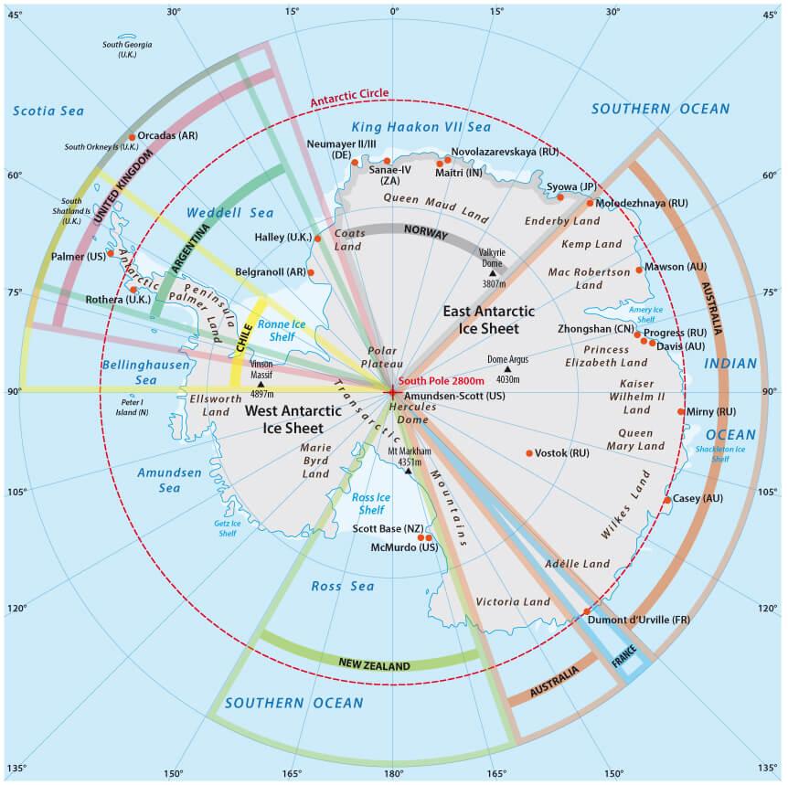 Viaggio in Antartide Mappa