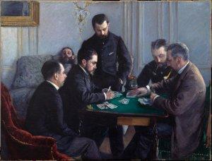 Gustave Caillebotte, Il gioco del Bezique, 1880