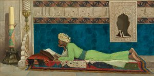 "Museo Louvre di Abu Dhabi Osman Hamdi Bey, ""Giovane Emiro che studia"", 1878. Copyright Louvre Abu Dhabi"