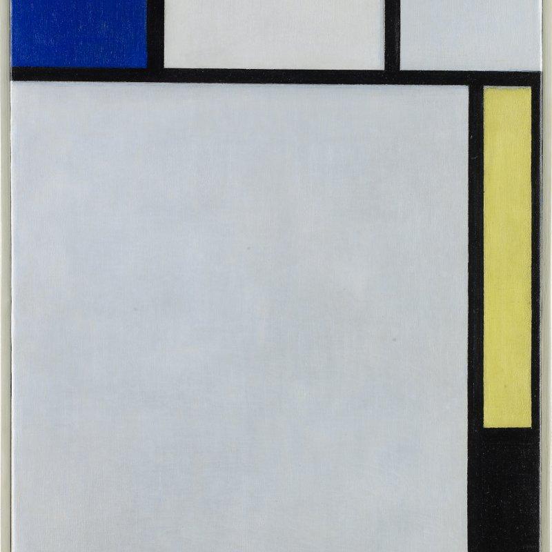 """Louvre di Abu Dhabi Piet Mondrian, """"Composizione con Blu, Rosso, Giallo e Nero"""", 1922"""