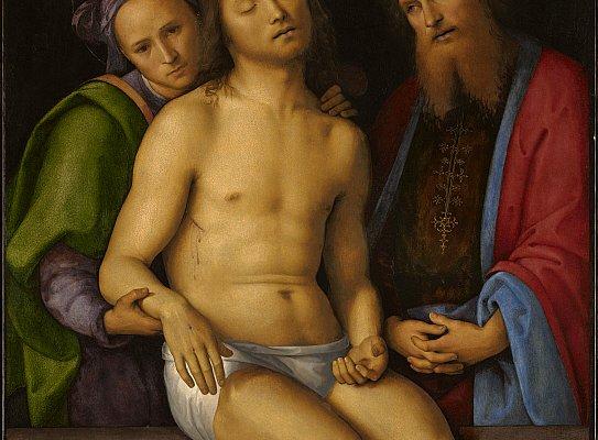 Perugino, Sepolcrum Christi, 1494-1498. Olio su pannello, 92.6 x 71.8. © The Clark Art Institute.