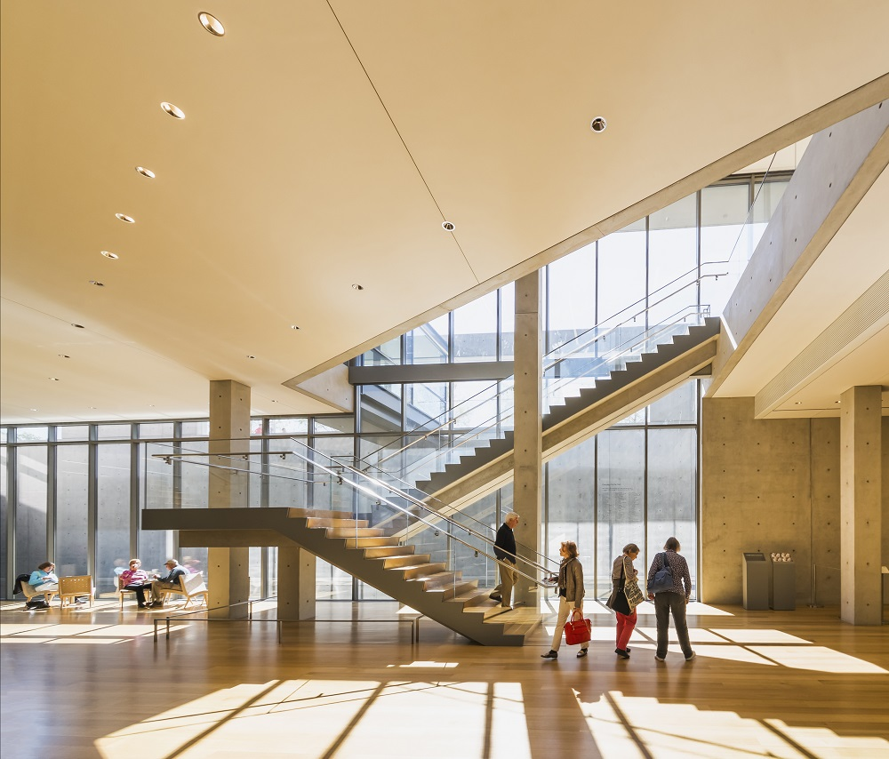 Il primo piano del Clark Center. © The Clark Art Institute