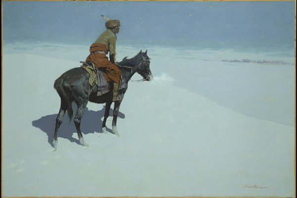 Frederic Remington, Amici o nemici?, 1902-1905. Olio su tela, 68.6 x 101.6 cm. © The Clark Art Institute.