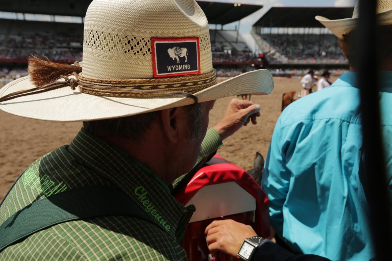 Icone western in Wyoming e Montana Frontier Days Cheyenne