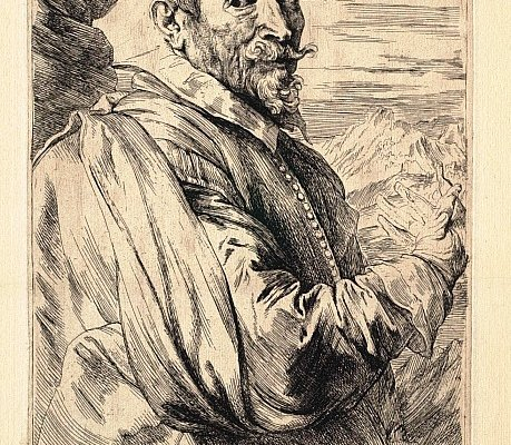 Antoon Van Dyck, Ritratto di Josse de Menpes, 1635 circa. Acquaforte su carta, 24.3 x 15.6 cm cm. © The Clark Art Institute.