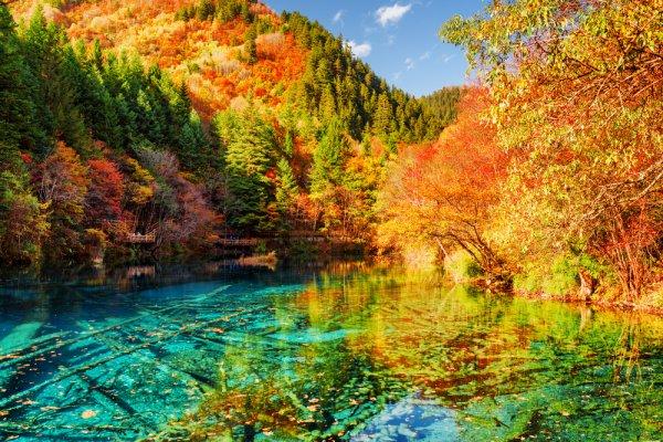 I foliage più spettacolari del mondo Valle del Jiuzhaigou 1