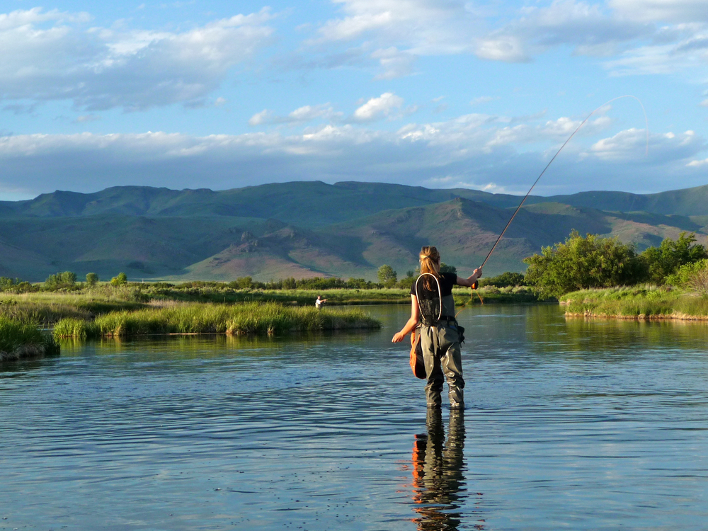 I ranch delle Rocky Mountains: fly fishing