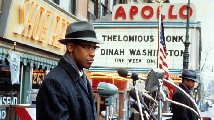 Denzel Washington nei panni di Malcom X, from https://www.rollingstone.com/