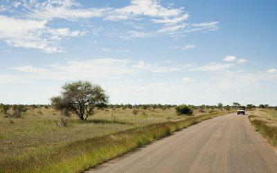 Truck on Road, Kruger National Park, South Africa