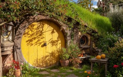 Hobbit House in Hobbiton, Shire, Matamata New Zealand. Foto taken on a tour of the movie set.