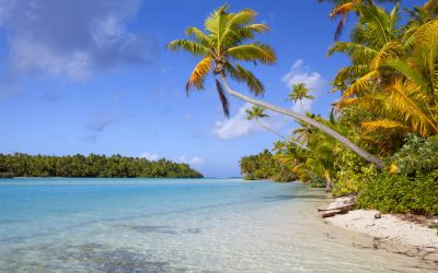 The sun shines down on One Foot Island in the Cook Islands. This South Pacific paradise is often voted one of the most beautiful places on Earth, and with good reason. It has my vote!