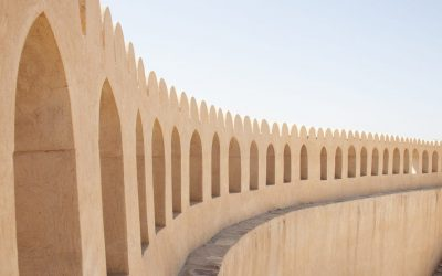 Detail at, 16th Century castle in Nizwa, Oman.