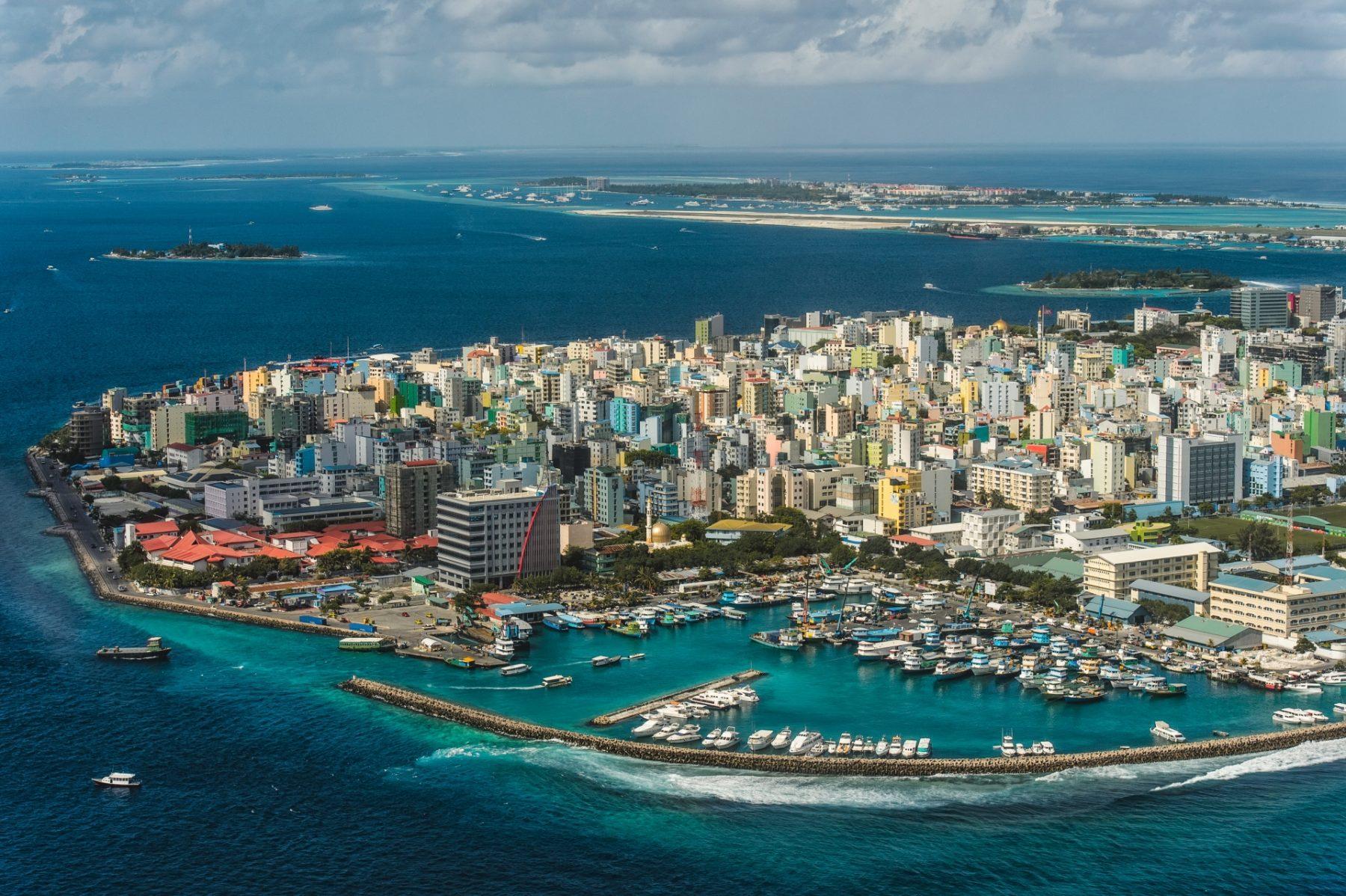 Male Maldive vista aerea