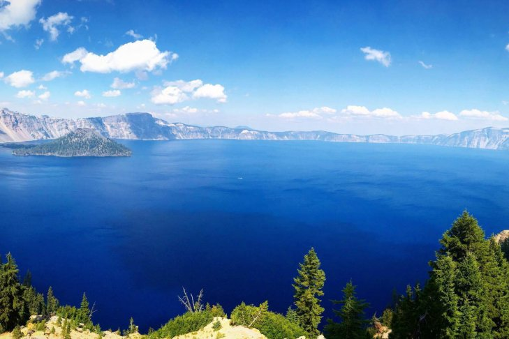 Visitare l'Oregon in treno. Must to see: Crater Lake.