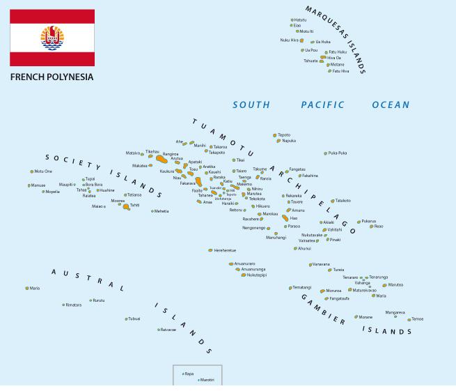 Viaggio in Polinesia Mappa