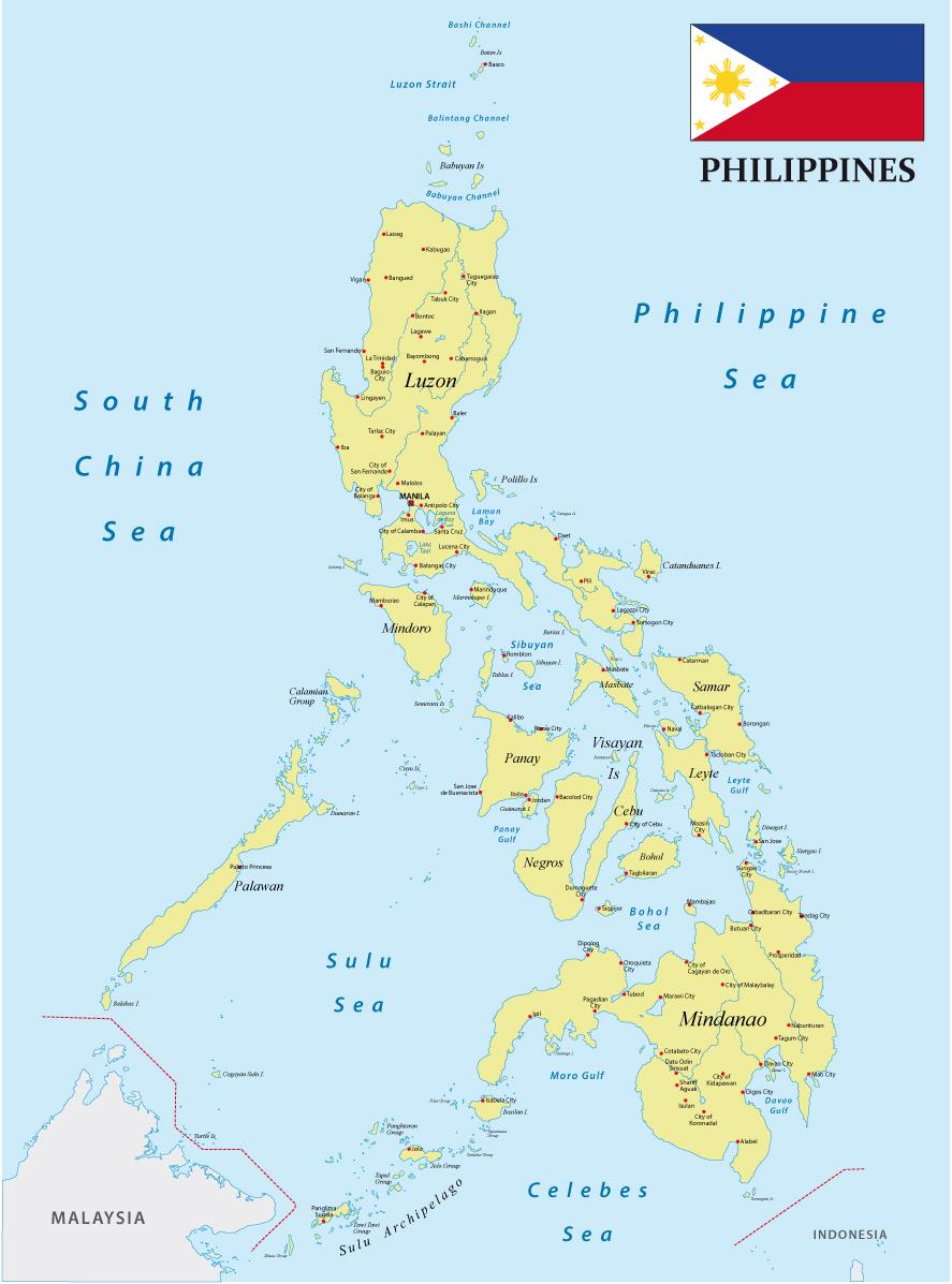 Viaggio filippine mappa