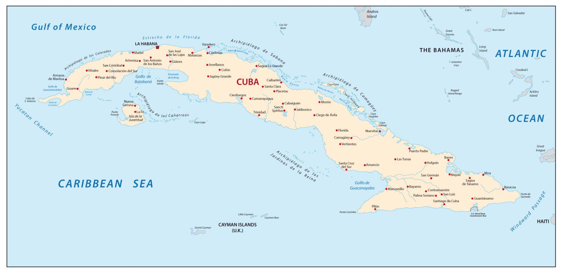 Viaggio a Cuba Mappa