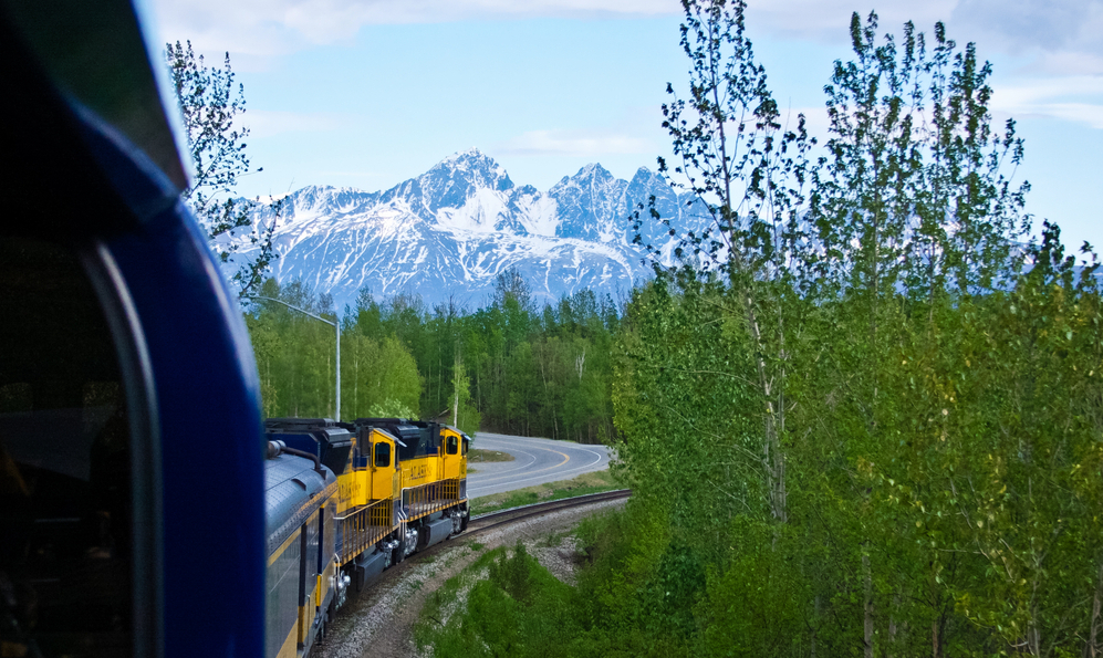 Alaska Railroad by train