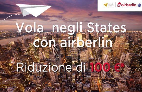 Riduzioni airberlin: 100 euro di sconto per gli Stati Uniti