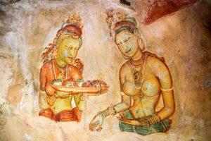 Ceylon Sigiriya affreschi