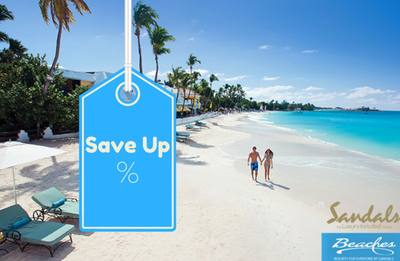 Sandals Resorts and Beaches Resorts Save up to 50%!