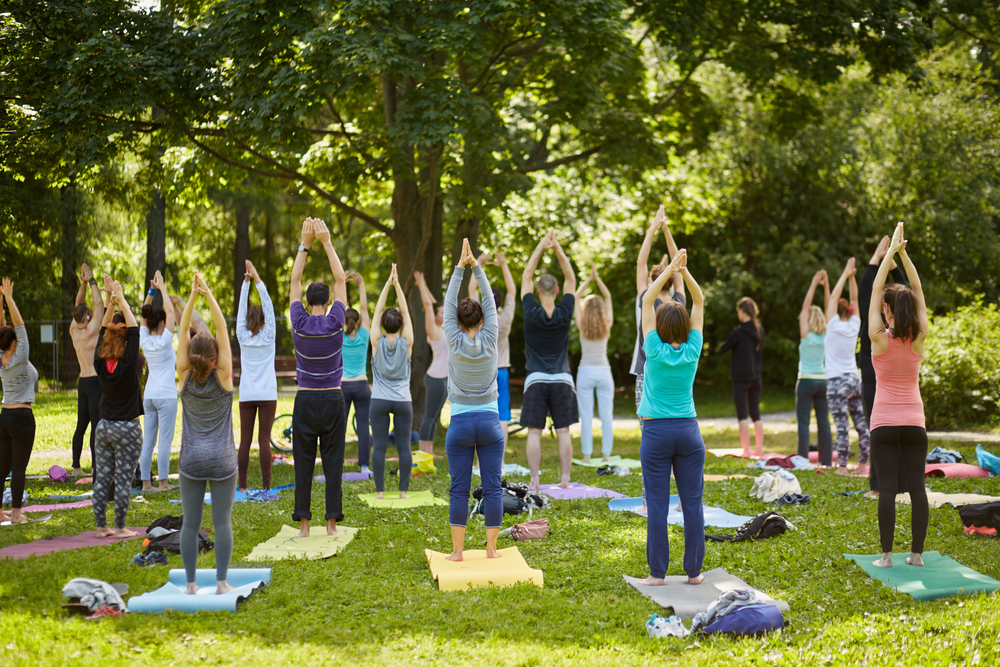 viaggio yoga USA giardino