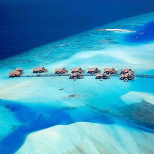 Ecoturismo e Relax alle Maldive Lakanfushi vista aerea