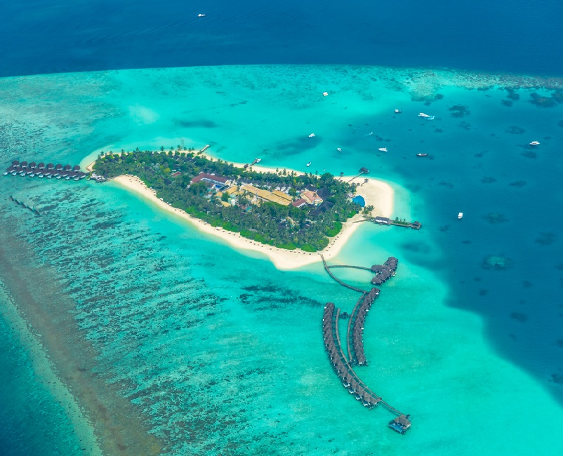 Ecoturismo e Relax alle Maldive aerial view