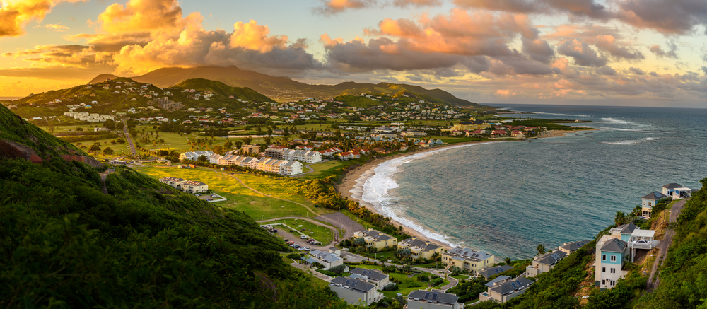 Saint Kitts e Nevis panorama Caraibi