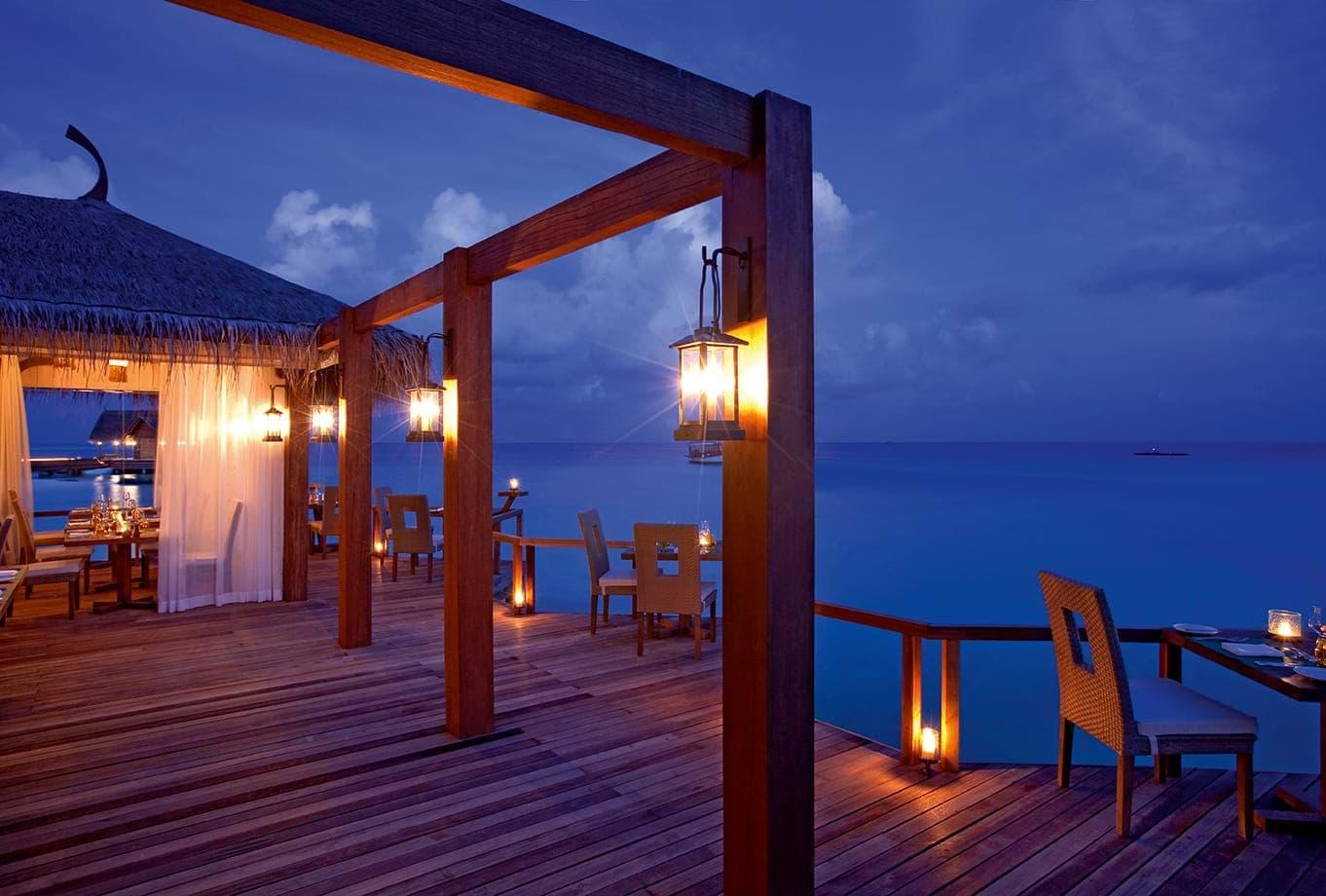Ecoturismo e relax alle Maldive cena