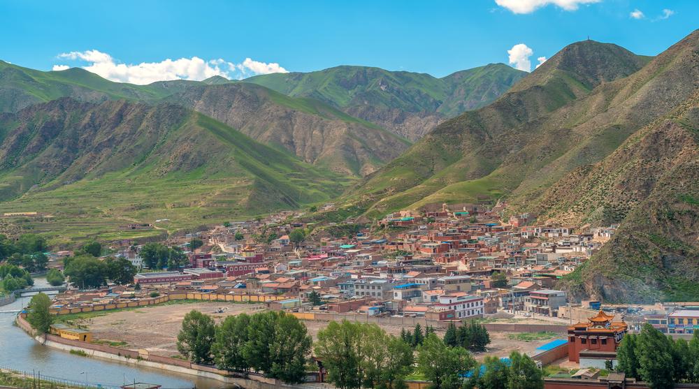viaggio in Gansu monastero