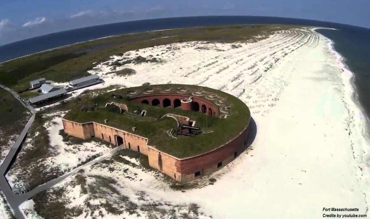 fortezze americane sul golfo del Messico fort massachusetts