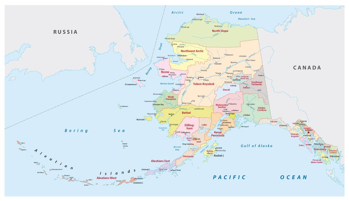 Viaggio in Alaska mappa
