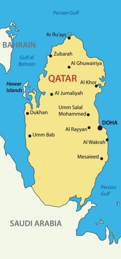 Viaggio in Qatar Mappa